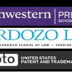Northwestern Pritzer School of Law, Cardozo Law, USPTO logos