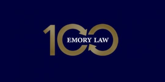 Emory Law (logo for 100th anniversary)