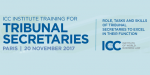 ICC Training for Tribunal Secretaries