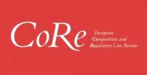 CFP Deadline: Eur. Competition & Reg. L. Rev.