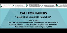 image for call for papers for hebrew university of jerusalem integrating corporate reporting conference