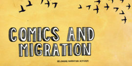 banner for comics and migration conference