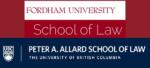 Fordham University School of Law & UBC School of Law